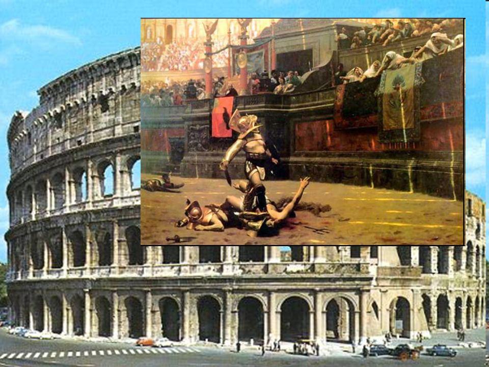 Kilkadziesiąt lat później w Italii zaczęły pojawiać się szkoły gladiatorów i pierwsze amfiteatry.