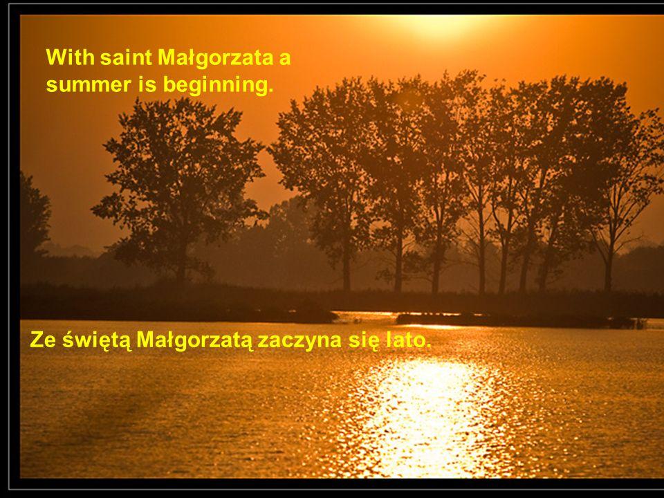 Ze świętą Małgorzatą zaczyna się lato. With saint Małgorzata a summer is beginning.