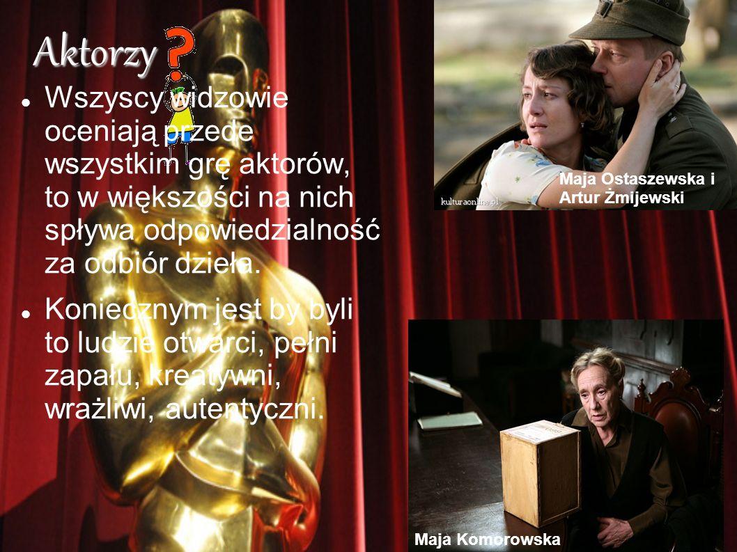 Aktorzy Wszyscy widzowie oceniają przede wszystkim grę aktorów, to w większości na nich spływa odpowiedzialność za odbiór dzieła. Koniecznym jest by b