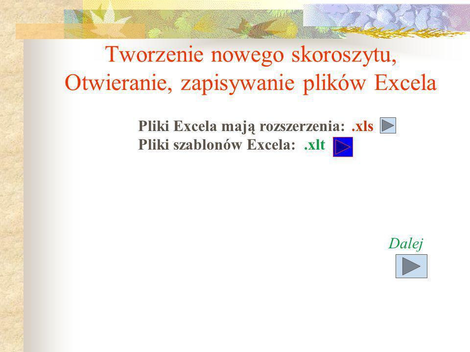 Inne cechy Excela Komentarze dołączane do komórek Scenariusze (co – jeśli itp.) Kontrola pisowni Szablony Zarządzanie bazami danych Obsługa makr.xml V