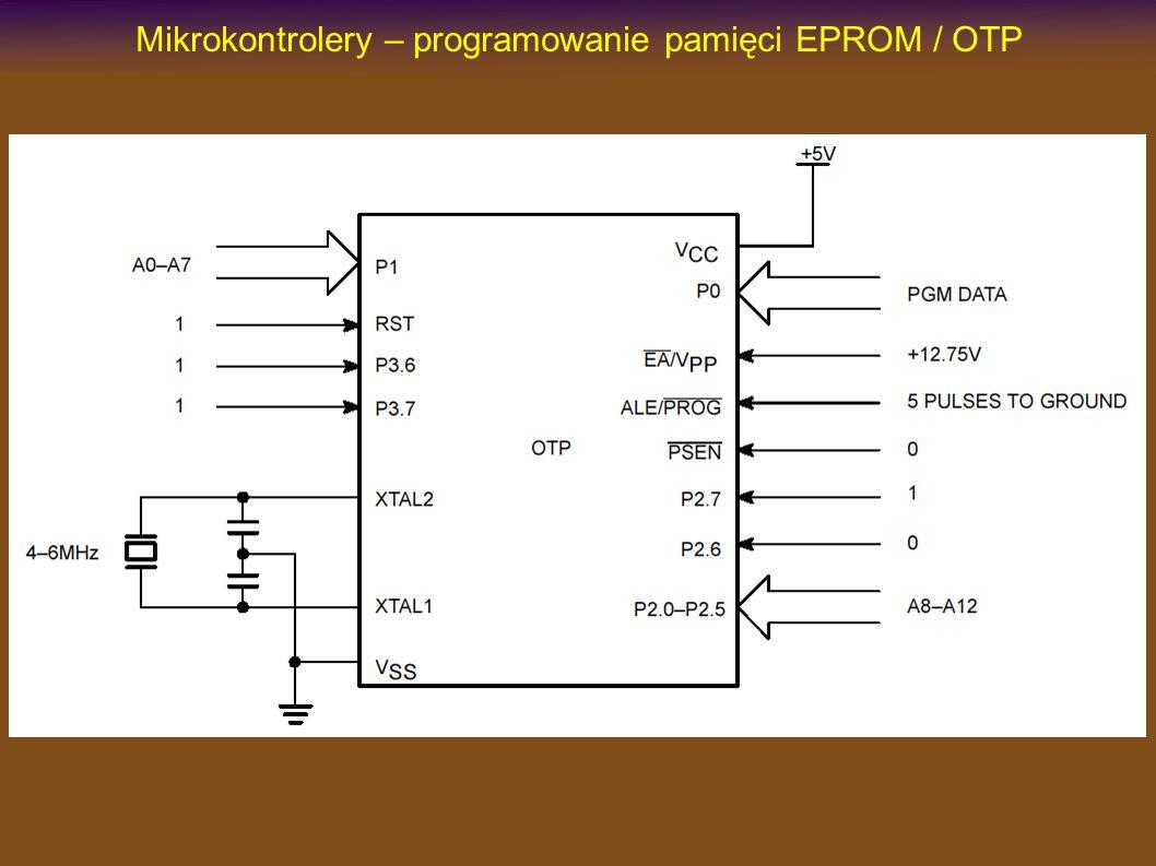 Mikrokontrolery – programowanie pamięci EPROM / OTP