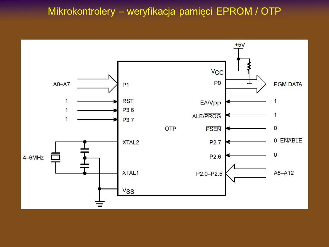 Mikrokontrolery – weryfikacja pamięci EPROM / OTP