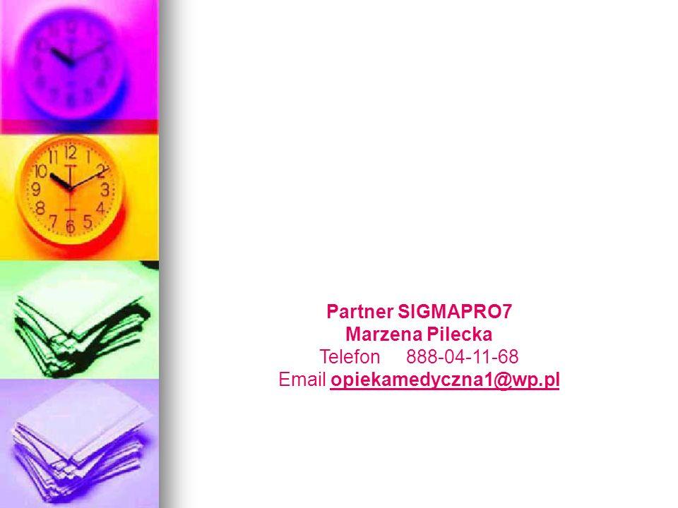 Partner SIGMAPRO7 Marzena Pilecka Telefon 888-04-11-68 Email opiekamedyczna1@wp.plopiekamedyczna1@wp.pl
