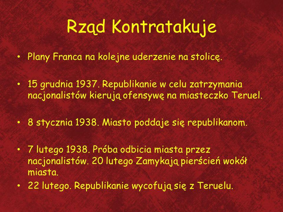 Rząd Kontratakuje Plany Franca na kolejne uderzenie na stolicę. 15 grudnia 1937. Republikanie w celu zatrzymania nacjonalistów kierują ofensywę na mia