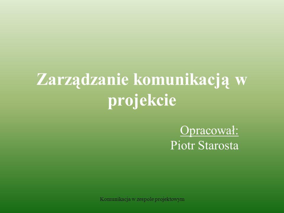Komunikacja w zespole projektowym 2.3.