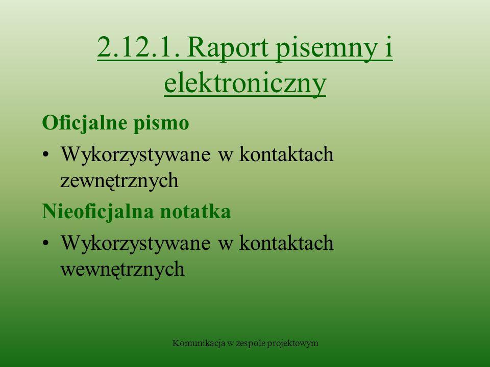 Komunikacja w zespole projektowym 2.12.1.