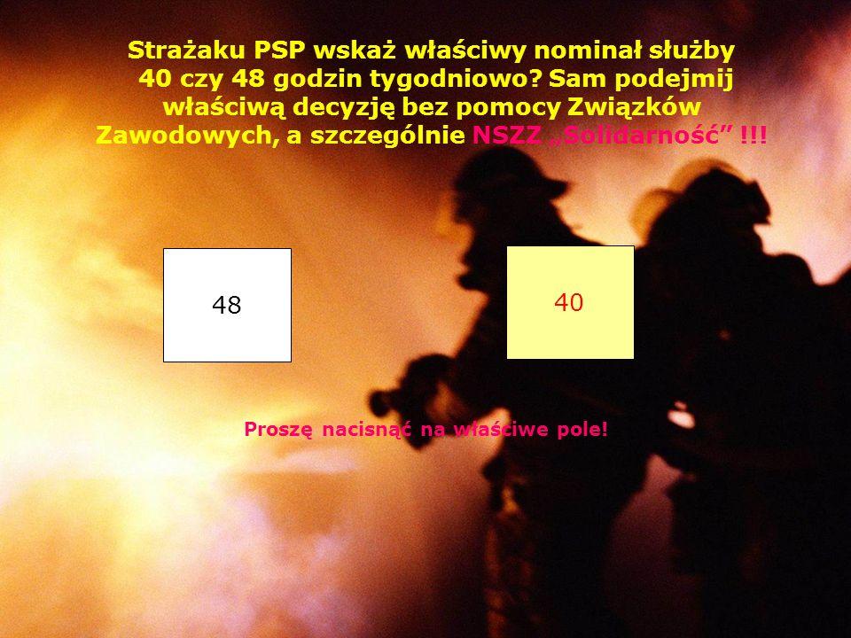 JE KG PSP przesyła do wypełnienia ankietę dot. preferowanego nominału służby przez strażaków PSP. Nad dobrowolnością wypełnienia ankiety przez strażak