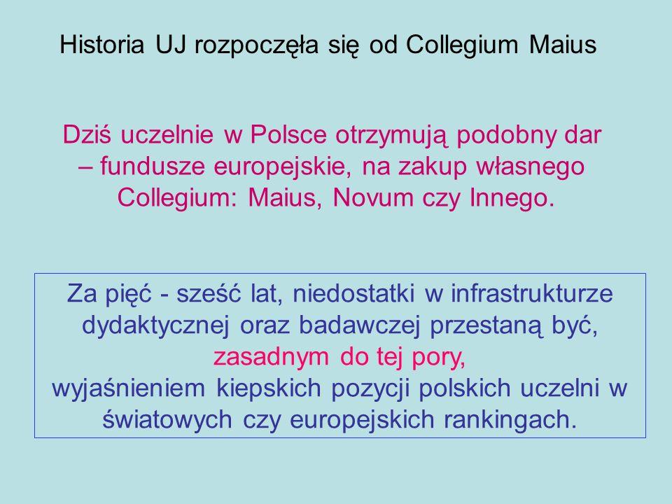Za pięć - sześć lat, niedostatki w infrastrukturze dydaktycznej oraz badawczej przestaną być, zasadnym do tej pory, wyjaśnieniem kiepskich pozycji pol