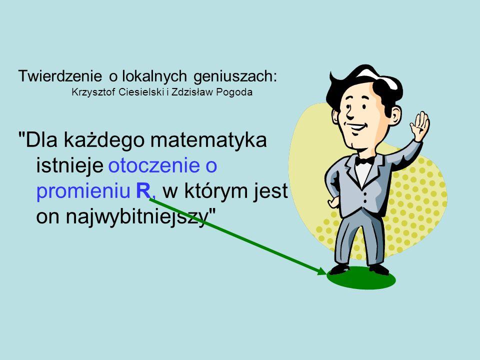 Twierdzenie o lokalnych geniuszach: Krzysztof Ciesielski i Zdzisław Pogoda
