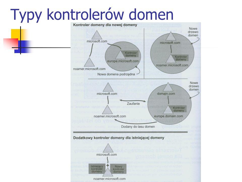 Typy kontrolerów domen