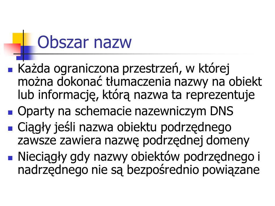 Obiekty usługi Active Directory (2) Drukarka – drukarka sieciowa opublikowana w katalogu.