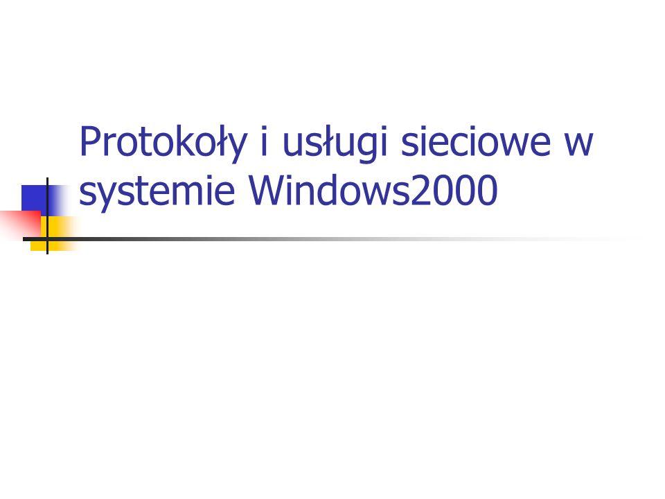 Protokoły i usługi sieciowe w systemie Windows2000