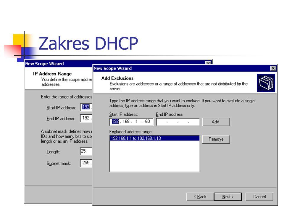 Zakres DHCP