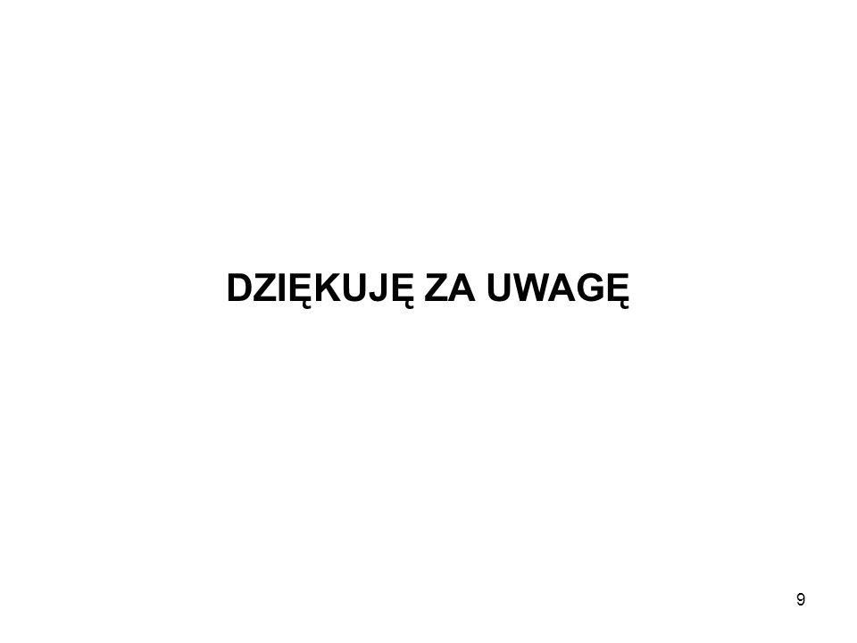 9 DZIĘKUJĘ ZA UWAGĘ
