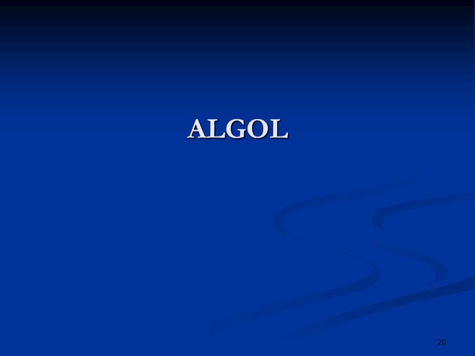 20 ALGOL