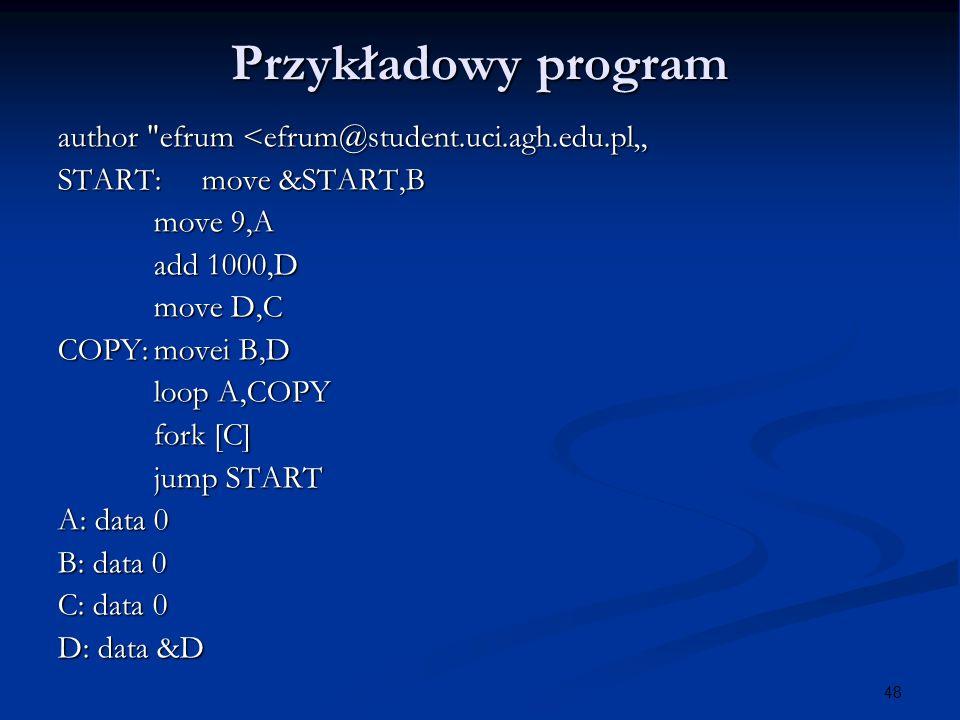 48 Przykładowy program author