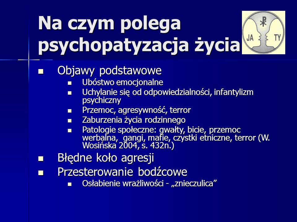 Wyjaśnienia terminologiczne psychopatia – osobowość psychopatyczna ( Koch 1891 - konstitutionell psychopatische Minderwerigkeit – konstytucjonalna psychopatyczna małowartościowość; brak uczuć moralnych, obniżone poczucie lęku i winy ) psychopatia – osobowość psychopatyczna ( Koch 1891 - konstitutionell psychopatische Minderwerigkeit – konstytucjonalna psychopatyczna małowartościowość; brak uczuć moralnych, obniżone poczucie lęku i winy ) socjopatia – osobowość socjopatyczna ( Wolman 1987 narcyzm, manipulacja, zachowania antyspołeczne, chłodny, instrumentalny stosunek do ludzi ) socjopatia – osobowość socjopatyczna ( Wolman 1987 narcyzm, manipulacja, zachowania antyspołeczne, chłodny, instrumentalny stosunek do ludzi ) zespół organiczny charakteropatyczny( Bilikiewicz 1993 ) zespół organiczny charakteropatyczny( Bilikiewicz 1993 ) nerwice charakteru ( Aleksander 1949 – defekt superego, narcyzm ) nerwice charakteru ( Aleksander 1949 – defekt superego, narcyzm ) zaburzenia osobowości ( ICD 10 – F60.0 – F60.9 ) zaburzenia osobowości ( ICD 10 – F60.0 – F60.9 ) antysocjalne zaburzenia osobowości ( DSM III i DSM IV ) antysocjalne zaburzenia osobowości ( DSM III i DSM IV ) makiawelizm ( Christie i Geis 1970 ) makiawelizm ( Christie i Geis 1970 ) zespół pograniczny zespół pograniczny