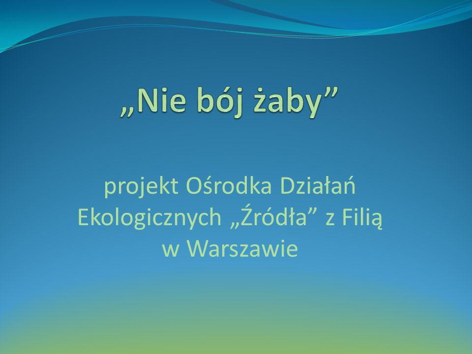 projekt Ośrodka Działań Ekologicznych Źródła z Filią w Warszawie