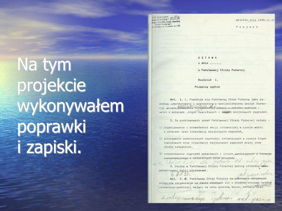 Na tym projekcie wykonywałem poprawki i zapiski.