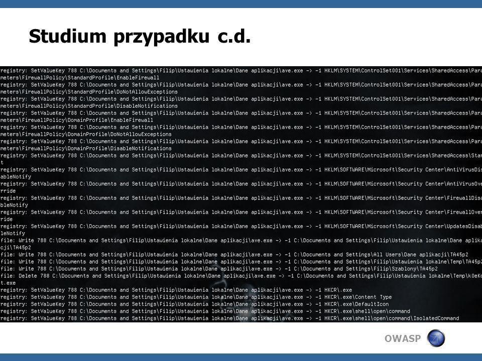 OWASP Studium przypadku c.d.