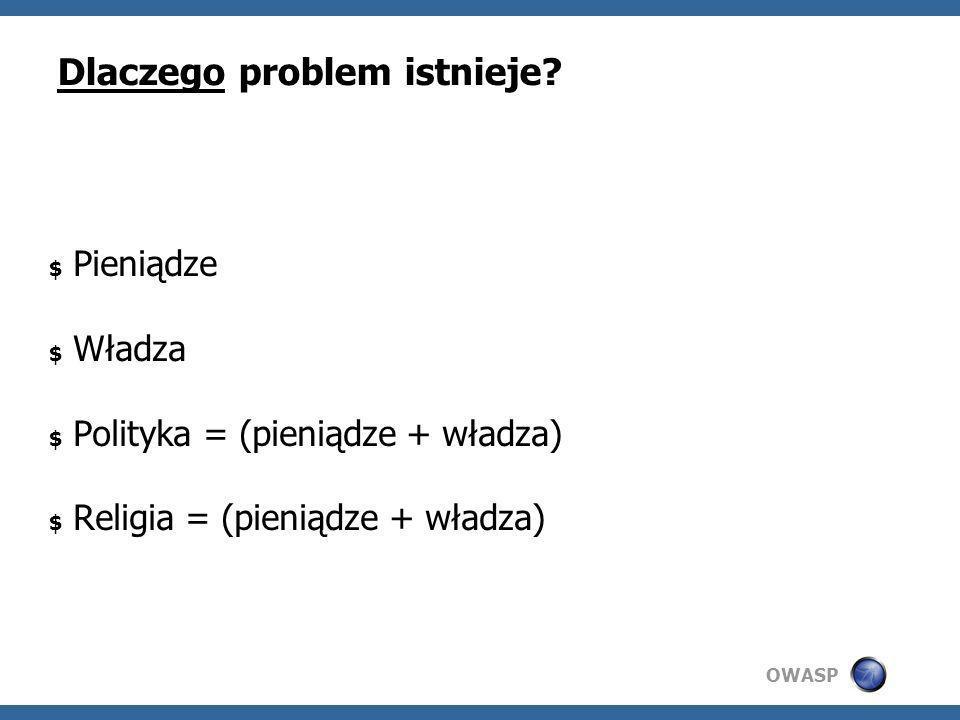 OWASP Kogo głównie dotyczy problem.