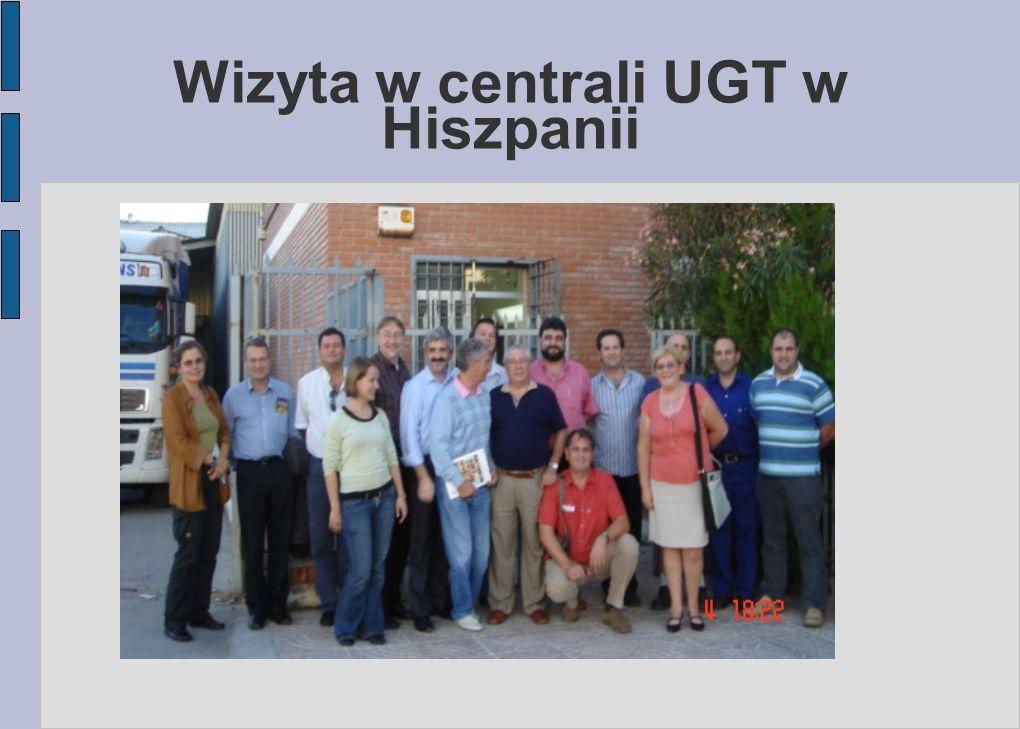 Wizyta w centrali UGT w Hiszpanii