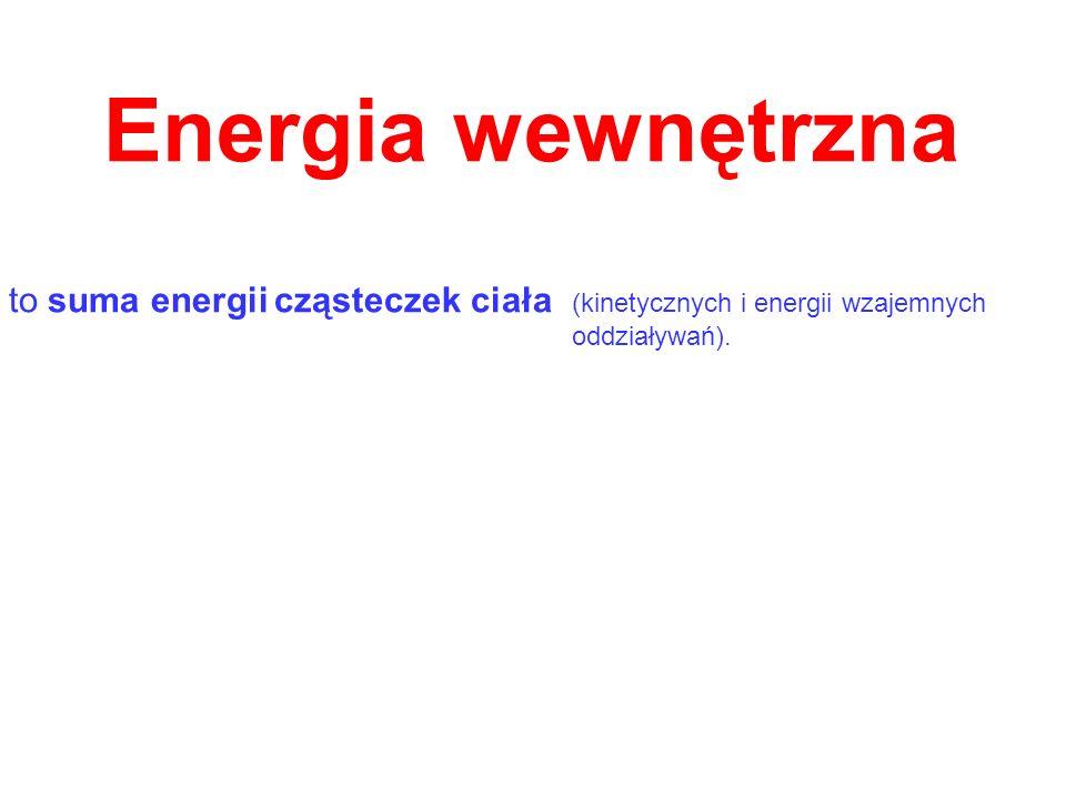 to suma energii cząsteczek ciała (kinetycznych i energii wzajemnych oddziaływań).