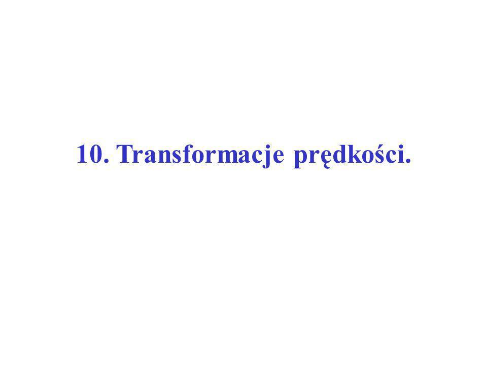 10. Transformacje prędkości.