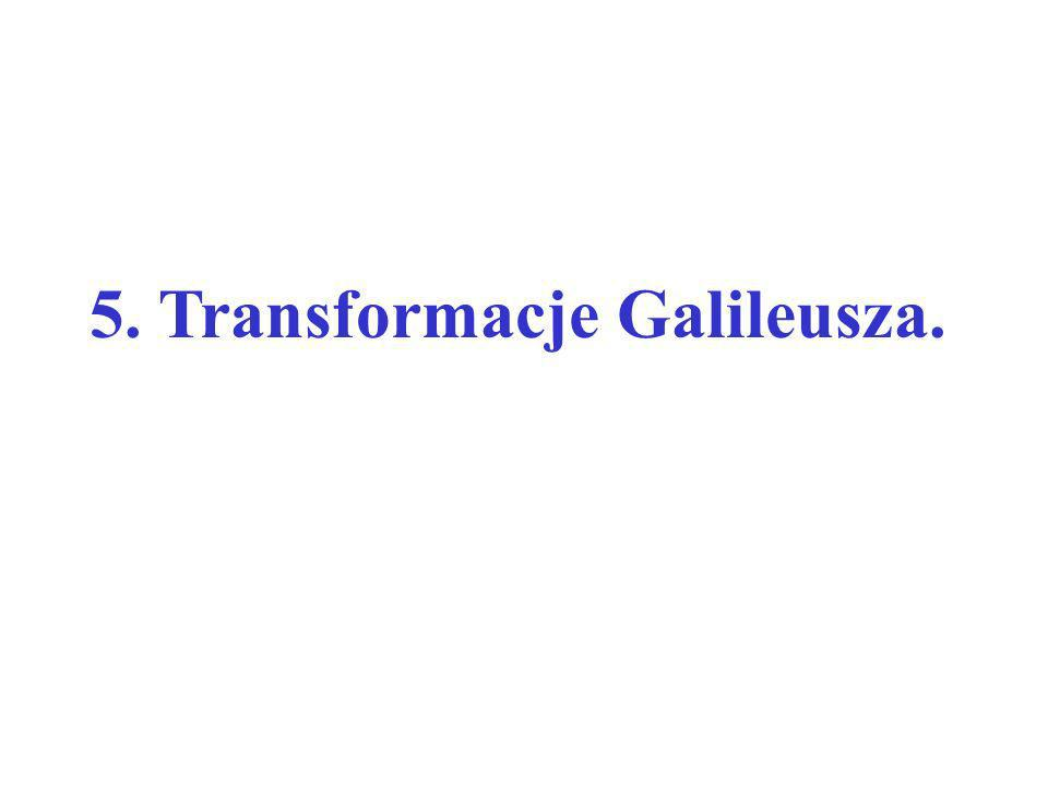 5. Transformacje Galileusza.
