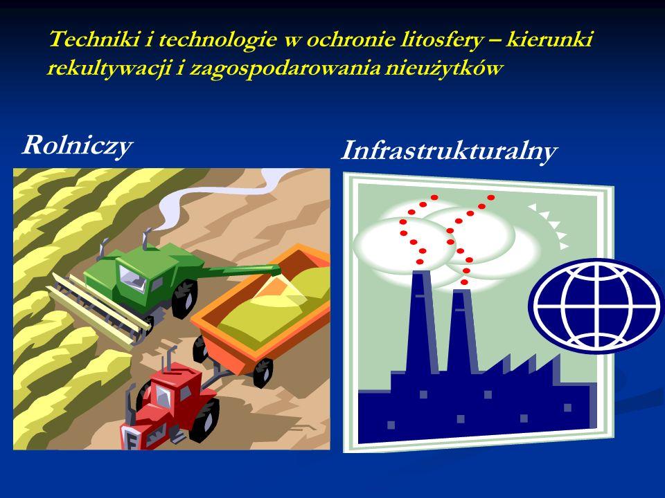 Techniki i technologie w ochronie litosfery – kierunki rekultywacji i zagospodarowania nieużytków Infrastrukturalny Rolniczy