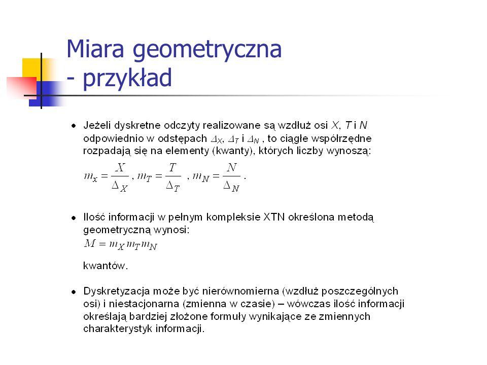 Miara geometryczna - przykład