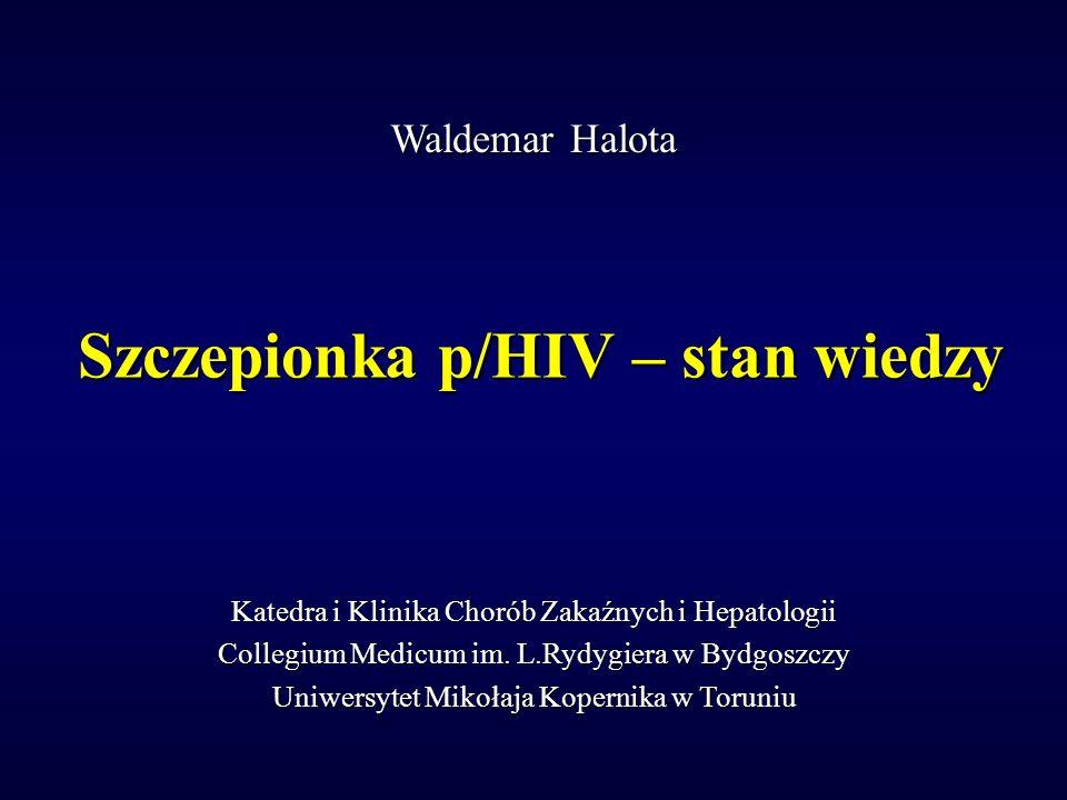 Szczepionka p/HIV – stan wiedzy Katedra i Klinika Chorób Zakaźnych i Hepatologii Collegium Medicum im. L.Rydygiera w Bydgoszczy Uniwersytet Mikołaja K