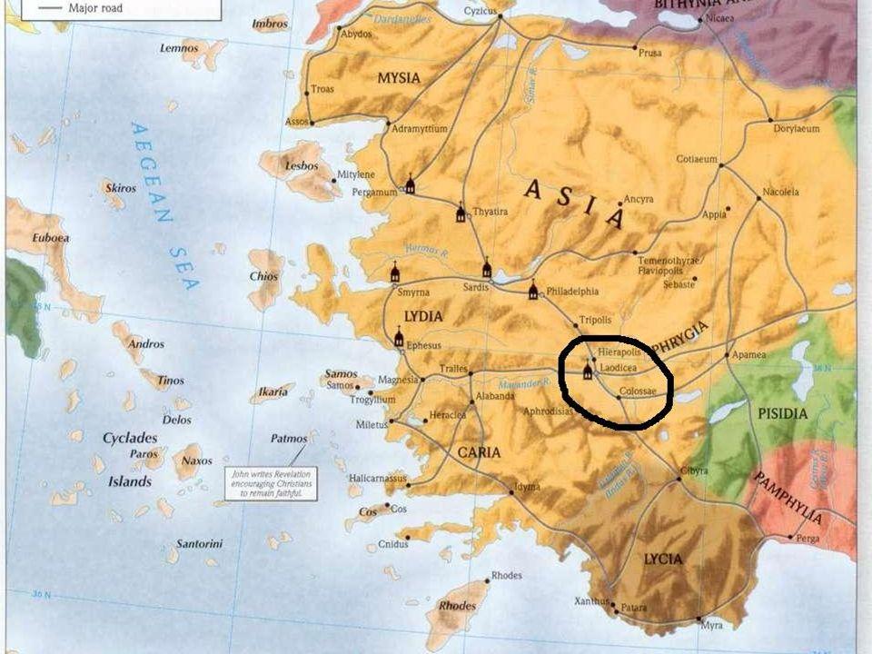 Początek chrześcijaństwa w Laodycei Rola Epafrasa Rola Epafrasa Wzmianka o gminie w Laodycei w Liście św.