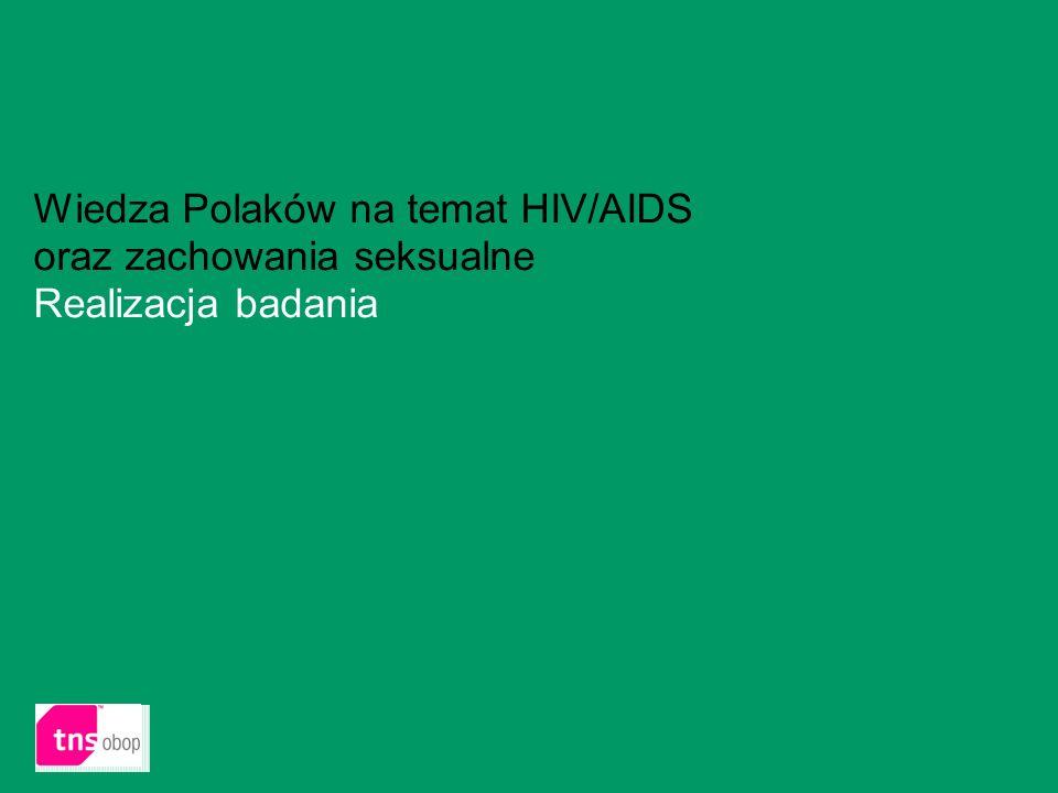 2 Wiedza Polaków na temat HIV/AIDS oraz zachowania seksualne Realizacja badania