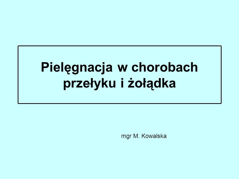 Pielęgnacja w chorobach przełyku i żołądka mgr M. Kowalska