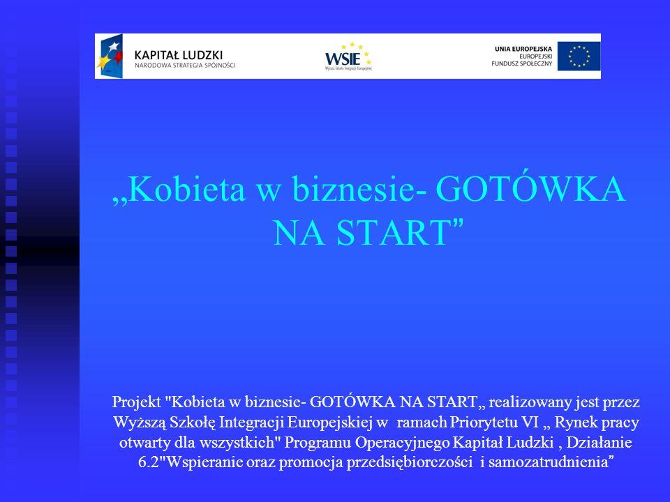 Kobieta w biznesie- GOTÓWKA NA START Projekt