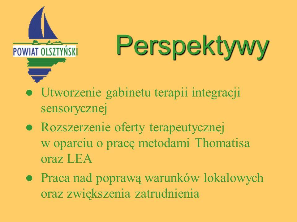 Perspektywy Utworzenie gabinetu terapii integracji sensorycznej Rozszerzenie oferty terapeutycznej w oparciu o pracę metodami Thomatisa oraz LEA Praca