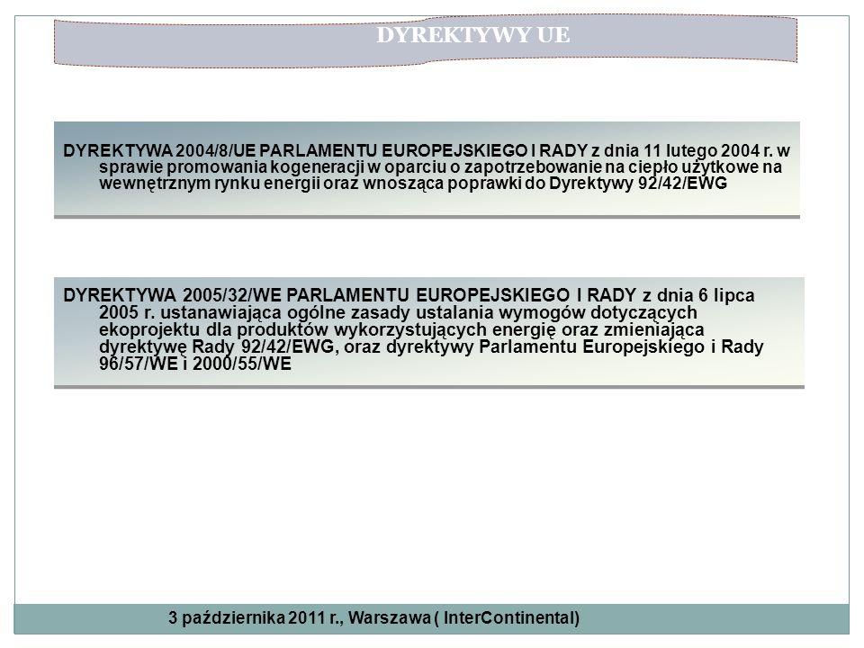 DYREKTYWA 2004/8/UE PARLAMENTU EUROPEJSKIEGO I RADY z dnia 11 lutego 2004 r. w sprawie promowania kogeneracji w oparciu o zapotrzebowanie na ciepło uż
