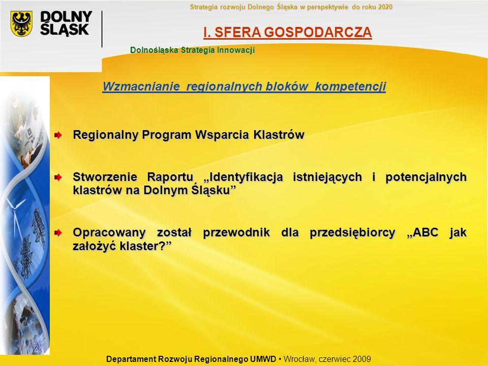 Regionalny Program Wsparcia Klastrów Stworzenie Raportu Identyfikacja istniejących i potencjalnych klastrów na Dolnym Śląsku Opracowany został przewod