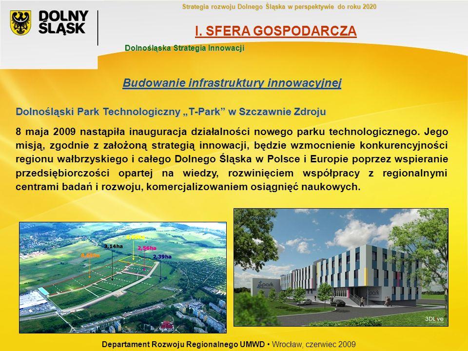 Dolnośląski Park Technologiczny T-Park w Szczawnie Zdroju 8 maja 2009 nastąpiła inauguracja działalności nowego parku technologicznego. Jego misją, zg