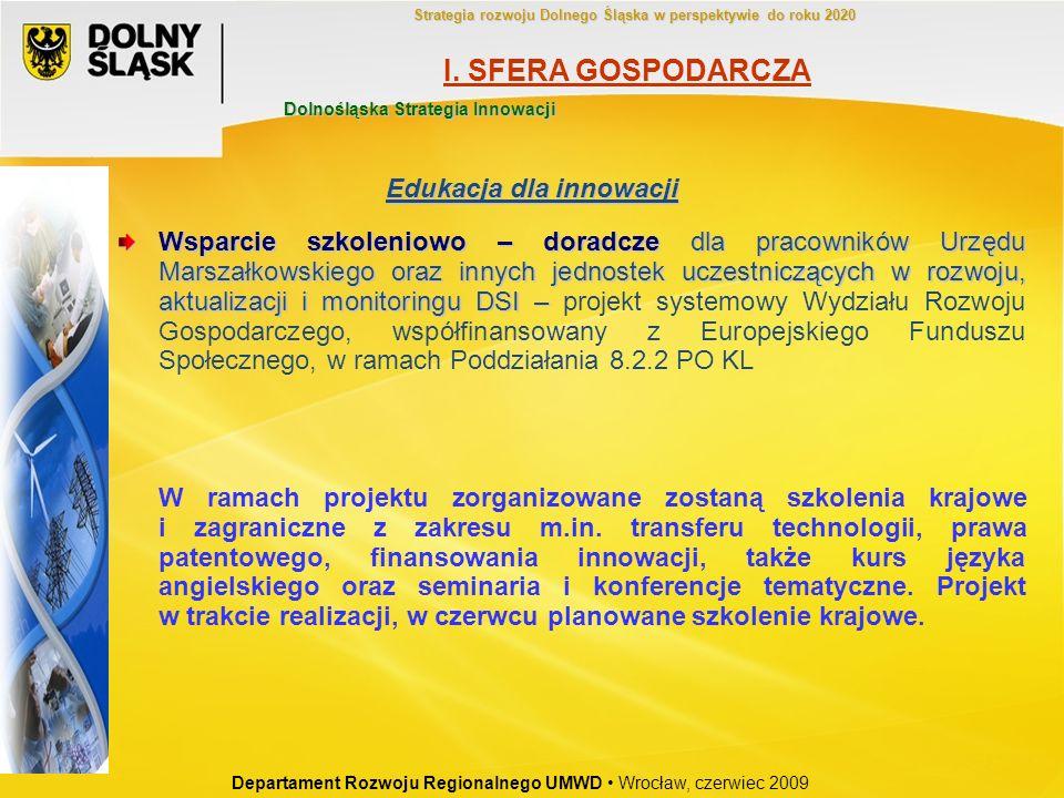 Wsparcie szkoleniowo – doradcze dla pracowników Urzędu Marszałkowskiego oraz innych jednostek uczestniczących w rozwoju, aktualizacji i monitoringu DS