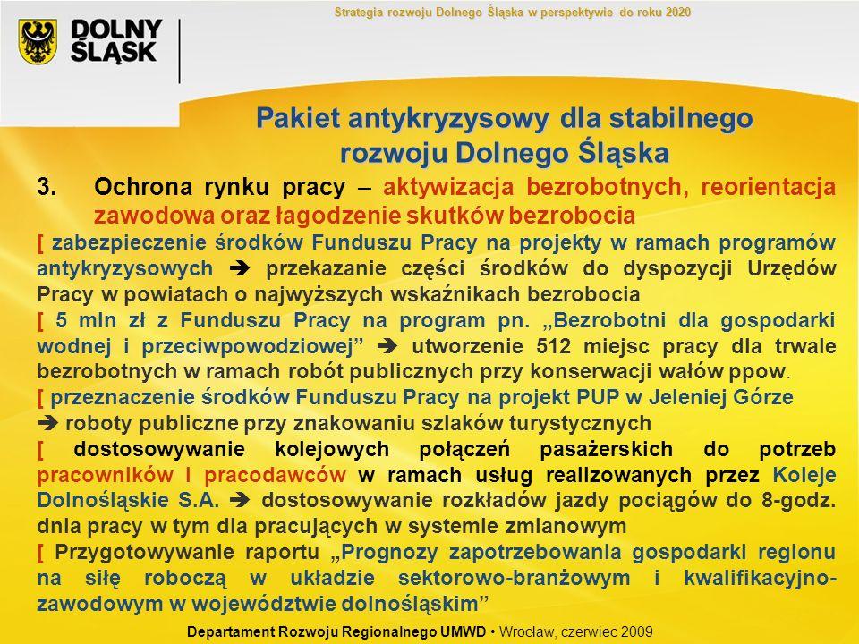 3.Ochrona rynku pracy – aktywizacja bezrobotnych, reorientacja zawodowa oraz łagodzenie skutków bezrobocia [ zabezpieczenie środków Funduszu Pracy na