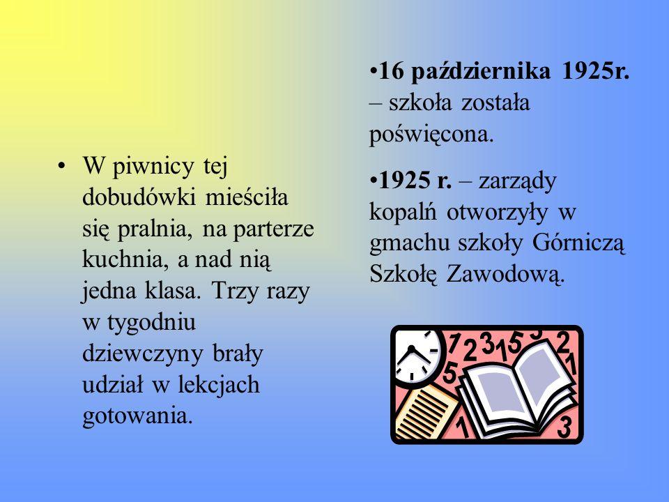 27 września 1989 r.– nadano szkole imię znanego sportowca – Bronisława Malinowskiego.