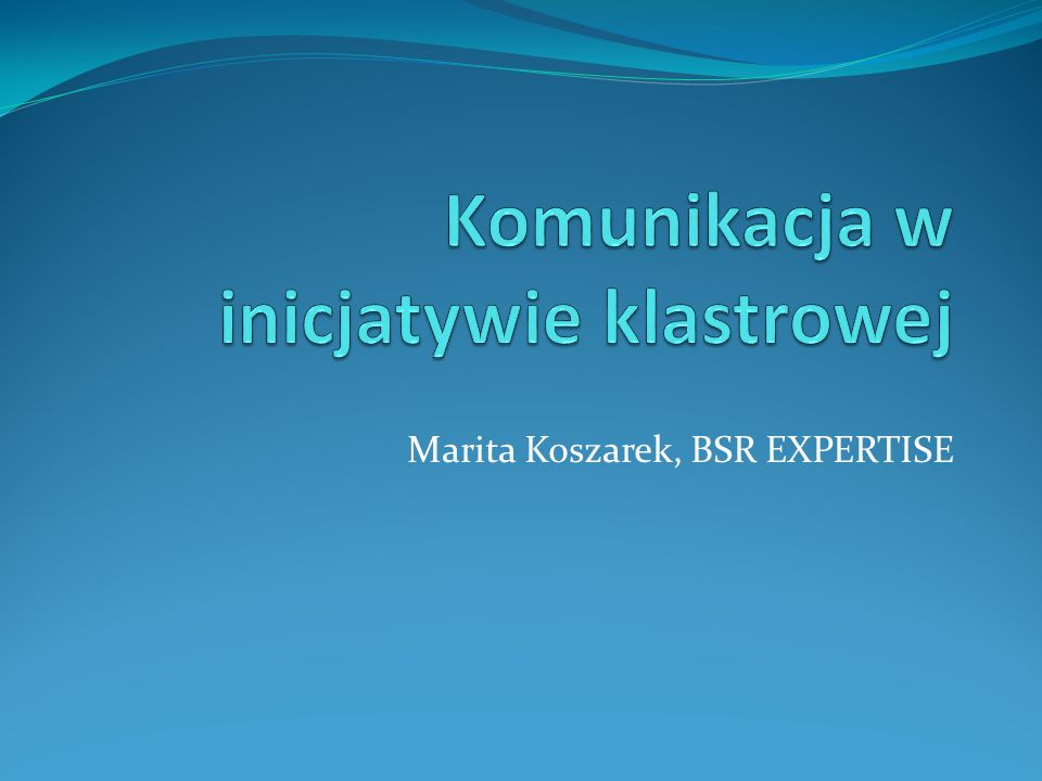 Marita Koszarek, BSR EXPERTISE