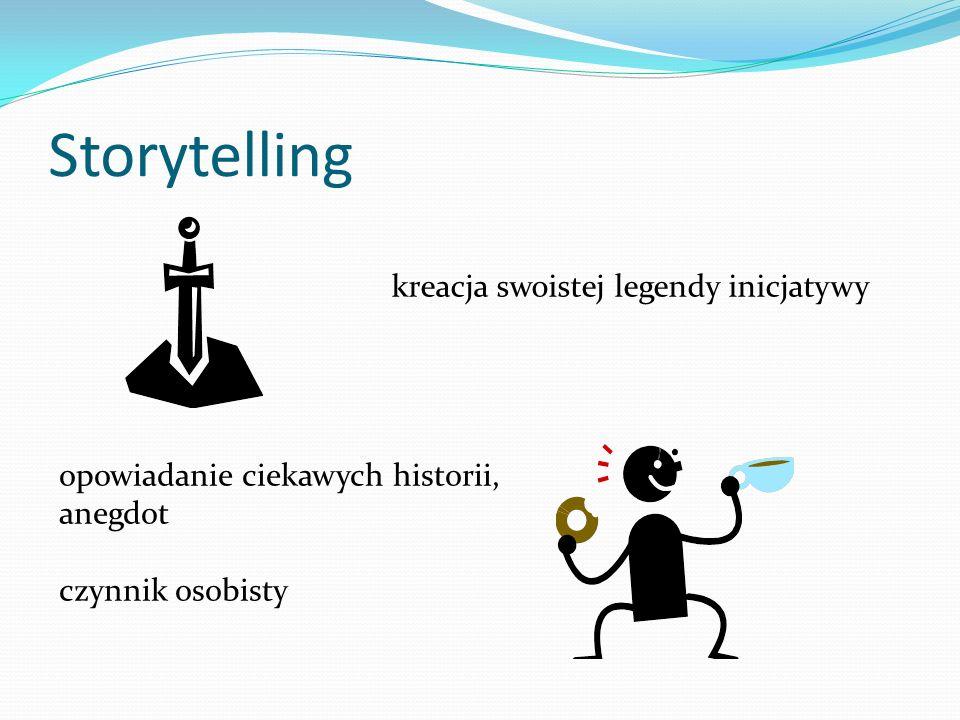 Storytelling kreacja swoistej legendy inicjatywy opowiadanie ciekawych historii, anegdot czynnik osobisty