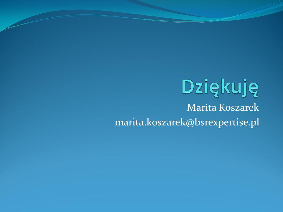 Marita Koszarek marita.koszarek@bsrexpertise.pl