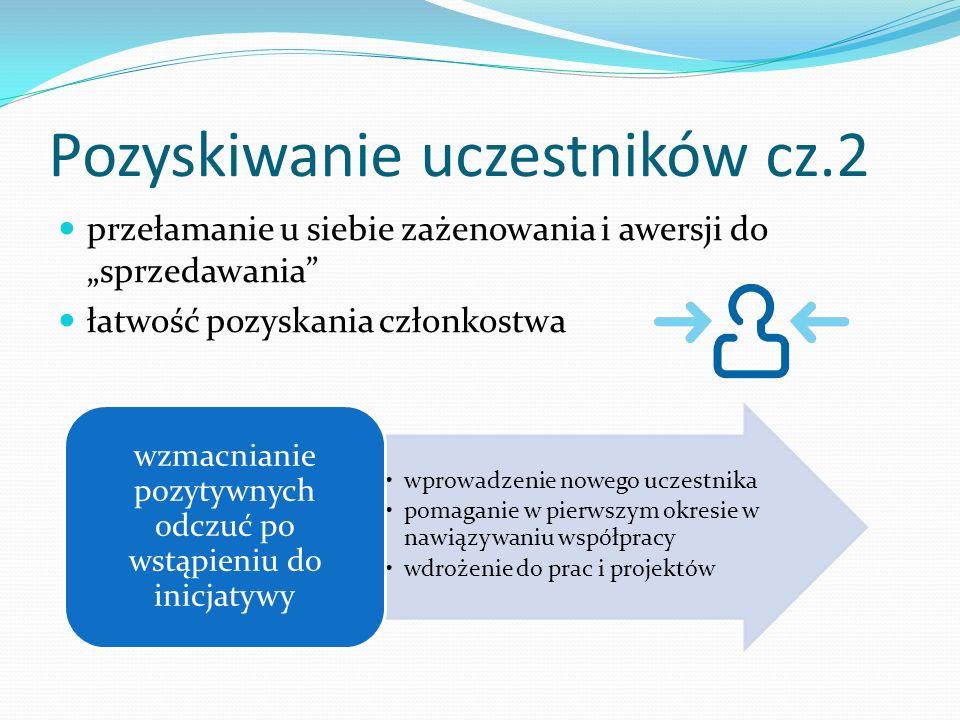 Pozyskiwanie uczestników cz.2 przełamanie u siebie zażenowania i awersji do sprzedawania łatwość pozyskania członkostwa wprowadzenie nowego uczestnika