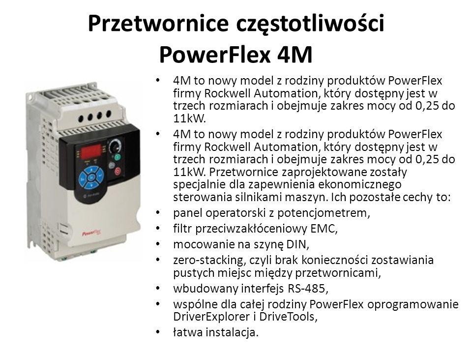 Przetwornice częstotliwości PowerFlex 4M 4M to nowy model z rodziny produktów PowerFlex firmy Rockwell Automation, który dostępny jest w trzech rozmia