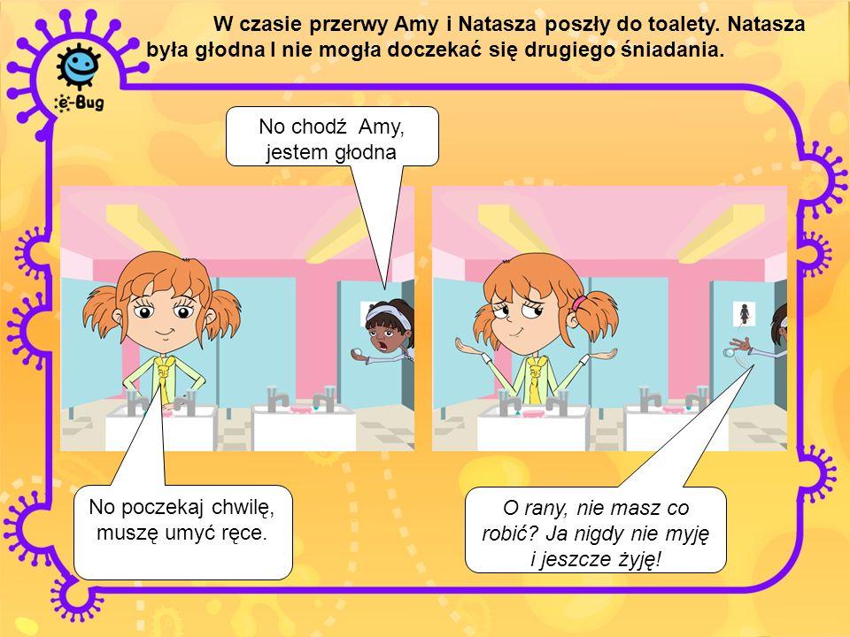 W czasie przerwy Amy rozmawiała tez ze swoim kolegą Harrym.