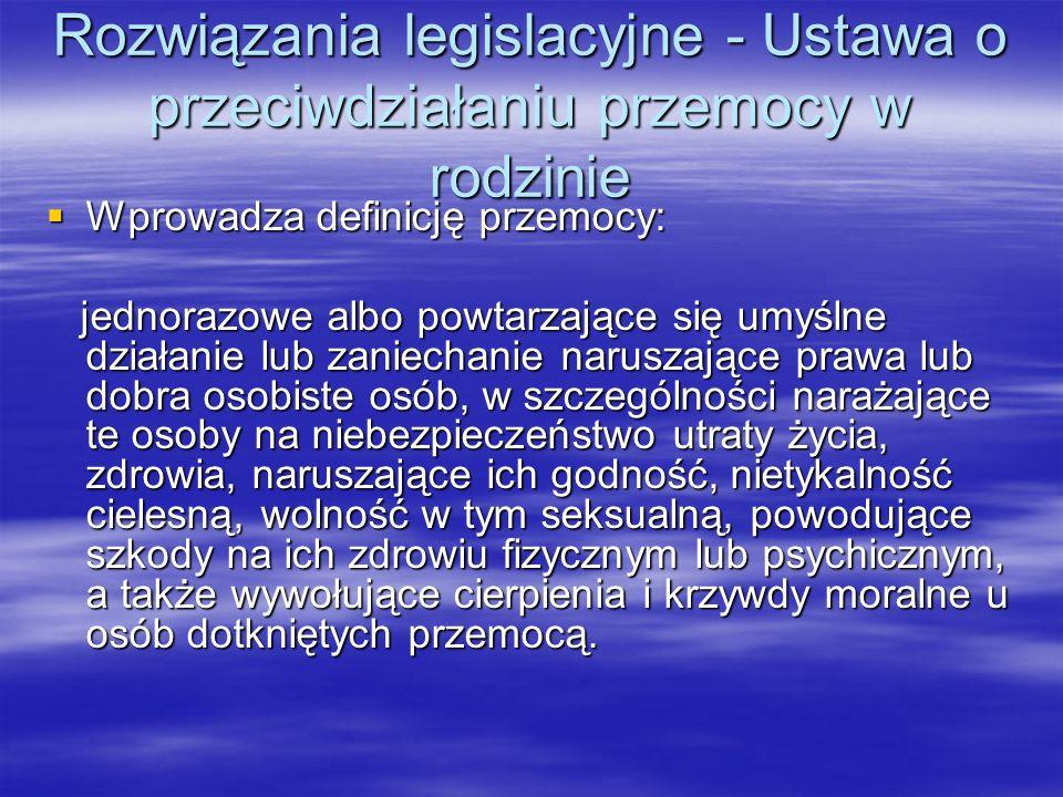 System przeciwdziałania przemocy w rodzinie Minister właściwy ds.